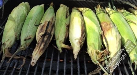 grilling-corn-husk-will-turn-black